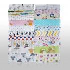 10er Pack Stoffwindeln weiß mit Aufdruck 70x80 Neu Bunt Mix Farben