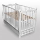 Babybett Kinderbett Juniorbett Weiß Vollmassiv mit Schublade NEU ohne Matratze
