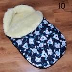 Fußsack LAMMWOLLE Winterfußsack für Kinderwagen Babyschale Fußsack NEU //