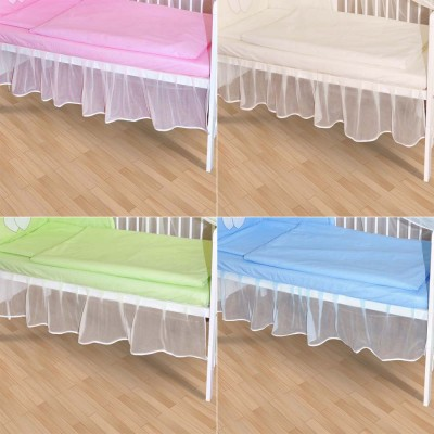 Falbel aus Chiffon für Babybett 140x70 Farbe weiß NEU