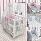 Babybett Kinderbett Weiß Bettwäsche Bettset Kissen komplett Set  mit Schublade Neu