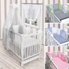 Babybett Kinderbett Weiß Bettwäsche Bettset komplett mit Schublade