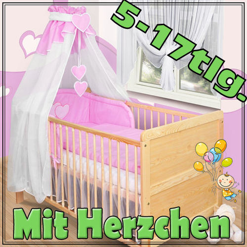 baby bettw sche himmel nestchen bettset mit applikation100x135cm herzchen. Black Bedroom Furniture Sets. Home Design Ideas