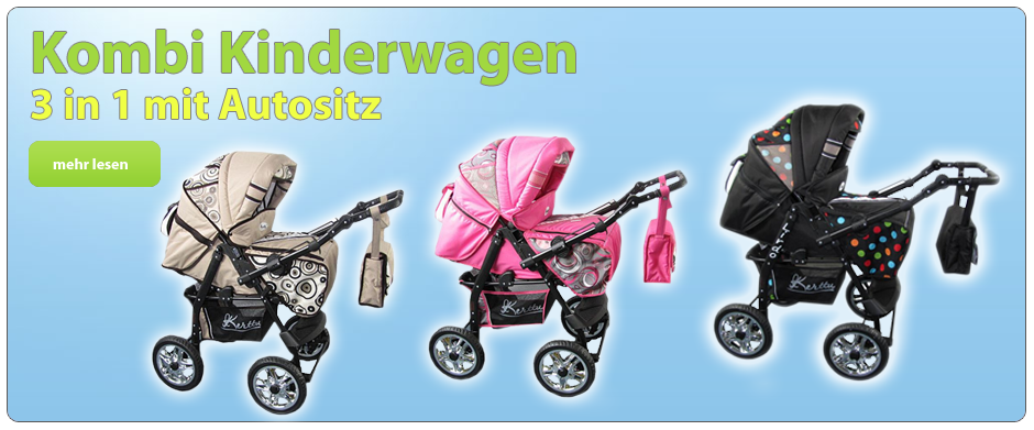 Kombi Kinderwagen 3 in 1 mit Autositz